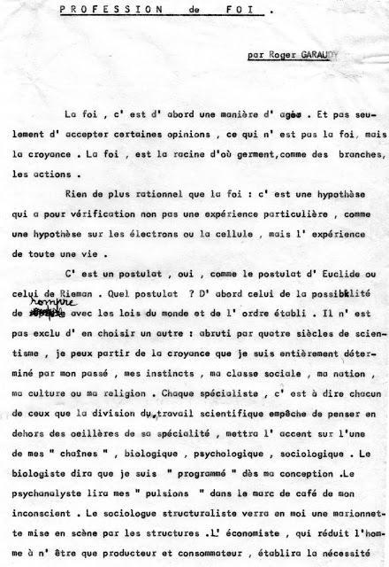 Profession de foi (1978)
