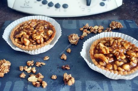 tartelette aux noix et caramel beurre salé  au thermomix de Vorwerk