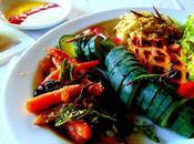 Gaufres tofu BBQ, carottes dukka olives marocaines, verveine citronnelle frite