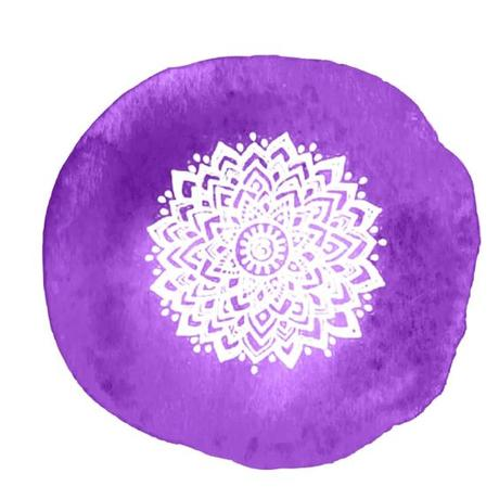 Couleur violette pour le Chakra couronne