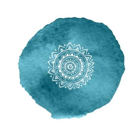 Couleur bleu pour le chakra de la gorge