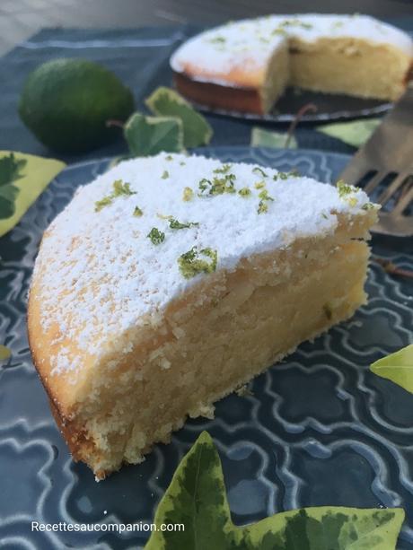 Cake au citron vert au companion thermomix ou sans robots