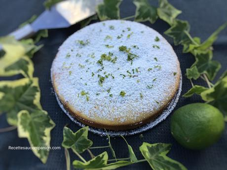 Cake au citron vert au companion thermomix ou sans robot