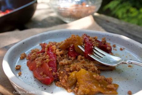 Antipasti de poivrons en crumble