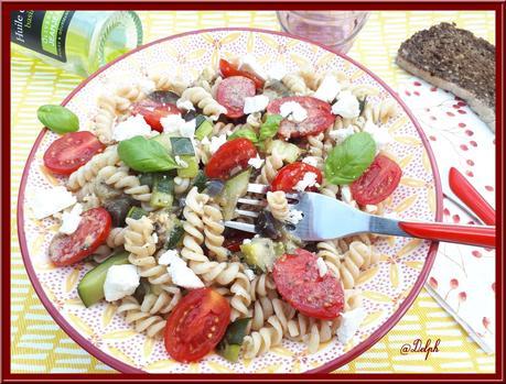 Salade de pâte aux légumes d'été