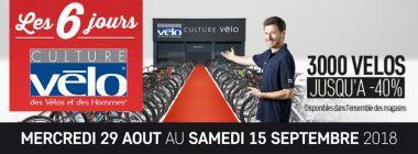 -40% sur 3000 Vélos avec Les 6 jours chez Culture Vélo