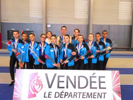 L'AGM vice champion de France Teamgym 2018