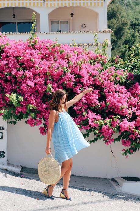 Robe bleu ciel & escapade Andalouse