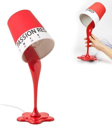 lampe pot de peinture renverse tompe oeil lampe de créateur originale blog decoration clemaroundthecorner