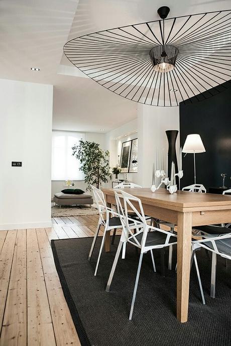 lampe de créateur vertigo salle a manger bois noir blanche scandinave blog décoration interieur clemaroundthecorner
