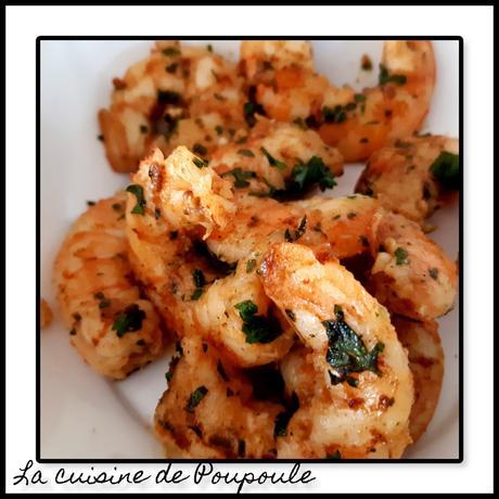 Crevettes sautées à la Coriandre-Persillade-épices Tandoori