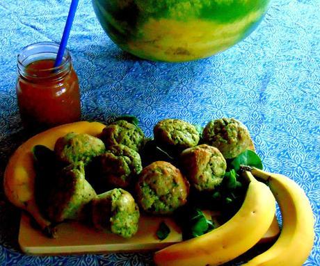 Muffins bananes épinards