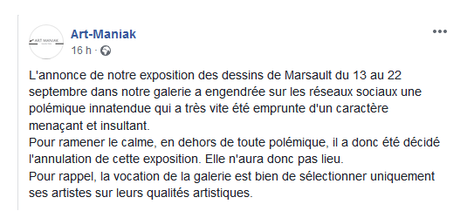 #Marsault : la galerie Art Maniak se ridiculise encore