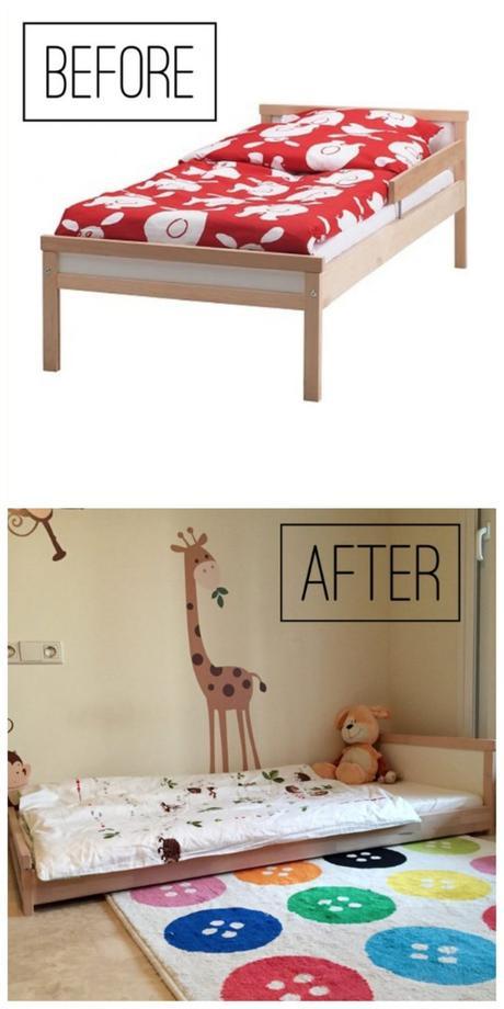 aménagement chambre Montessori lit ikea diy 2 ans blog déco clemaroundthecorner