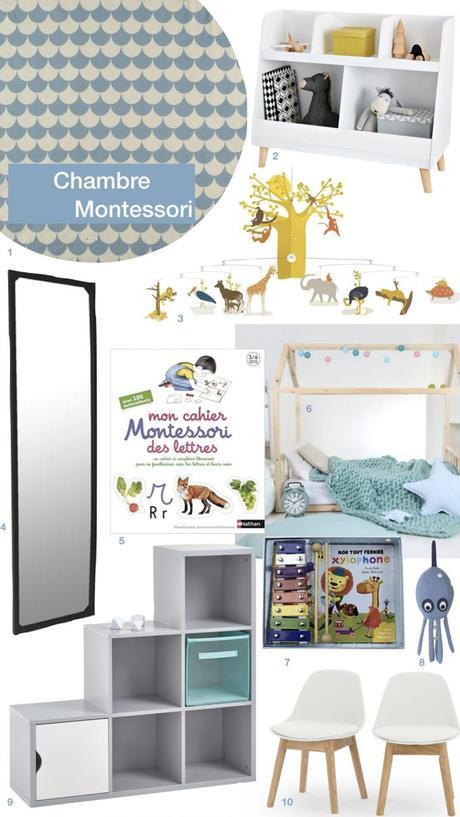 aménagement chambre Montessori bébé enfant petit garçon blog déco clem around the corner