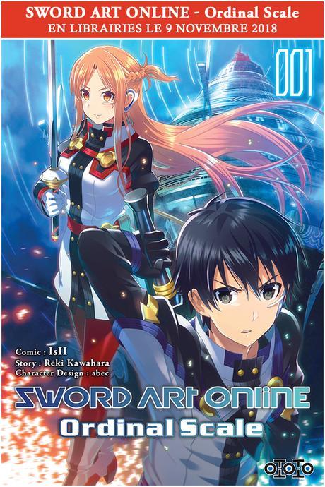 Le manga Sword Art Online – Ordinal Scale annoncé chez Ototo
