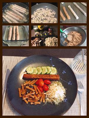 Saucisse végée au champignon et tofu - IG Ba