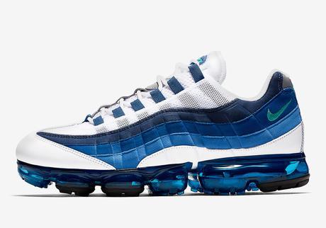 La Nike Air Vapormax 95 White French Blue est disponible depuis aujourd'hui
