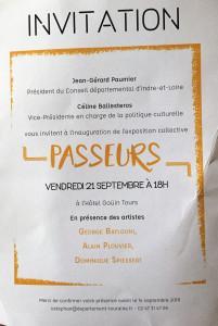 « PASSEURS » Hôtel Gouin à Tours  22/O9 au 28/10/2018