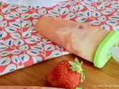 Popsicles pamplemousse, vanille fraises pour prolonger l'été