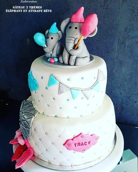 Gâteau attrape rêve et Éléphant