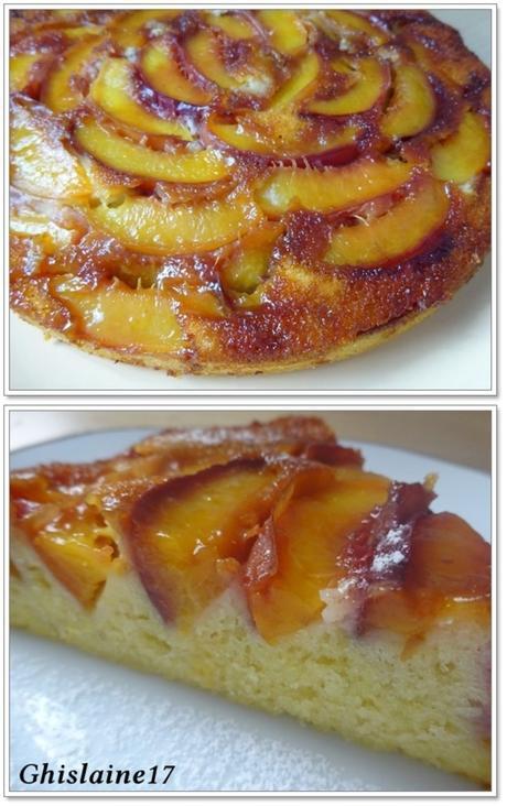 Gâteau renversé aux nectarines