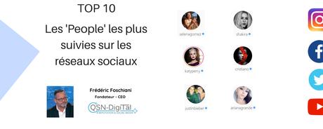 TOP 10 des 'People' les plus suivies sur les réseaux sociaux