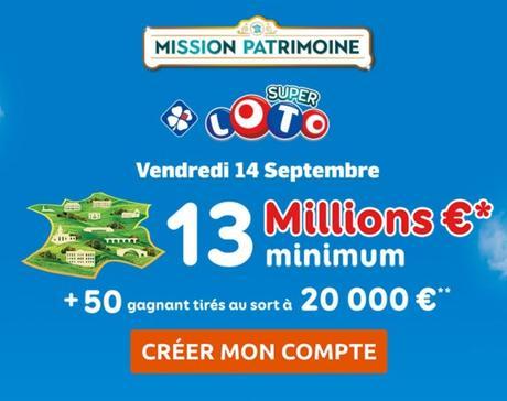 Objectif 15 à 20 millions d'euros de recettes pour le nouveau loto du Patrimoine lancé le lundi 3 septembre 2018