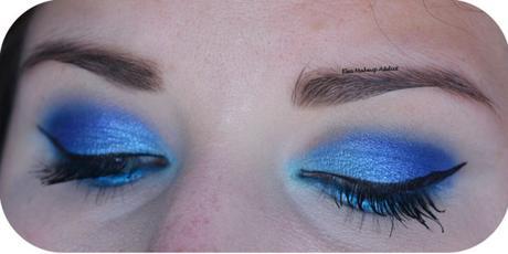BLUE ELECTRIC MAKEUP {Huda Beauty}