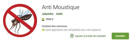 Application Android : Anti Moustique