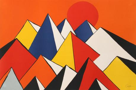Alexander Calder, Homage to the sun, 1973, lithographie