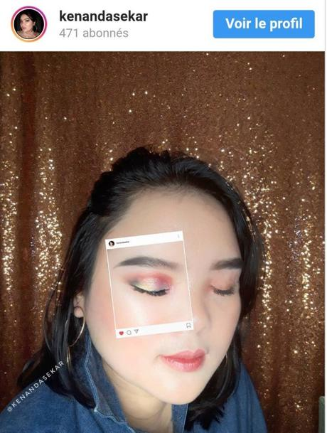 La nouvelle mode sur Instagram : recréer l'interface de l'application sur son visage.