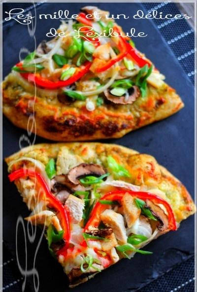 ~Pizza au poulet et au pesto~