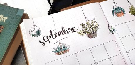 Bullet journal #8  Plantes & livres pour Septembre