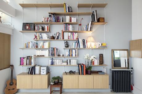 Paris / Un loft comme un atelier d'artiste /