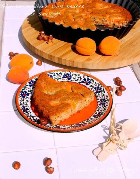 Gâteau moelleux sans beurre aux abricots