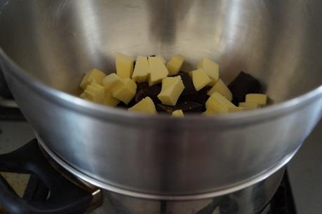 Brownies aux pépites chocolat noir et blanc
