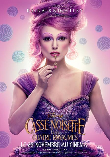 Affiches personnages VF pour Casse-Noisette et les Quatre Royaumes