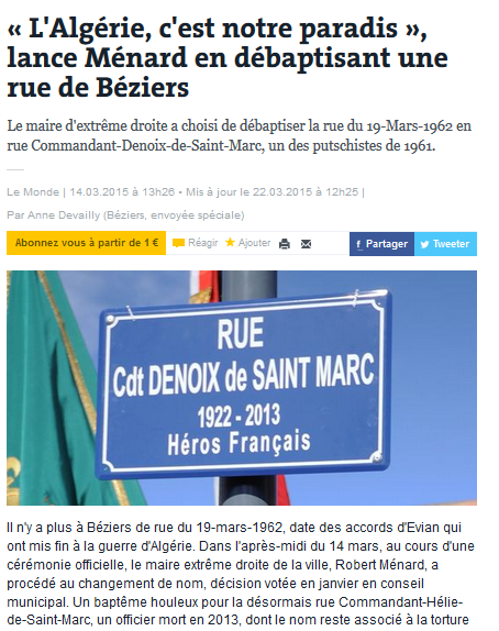 Reconnaissance du crime d'État de Maurice Audin : la #fachosphère fulmine ? Joie !