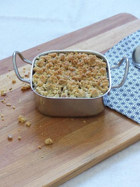 Crumble de patate douce au parmesan et aux noix