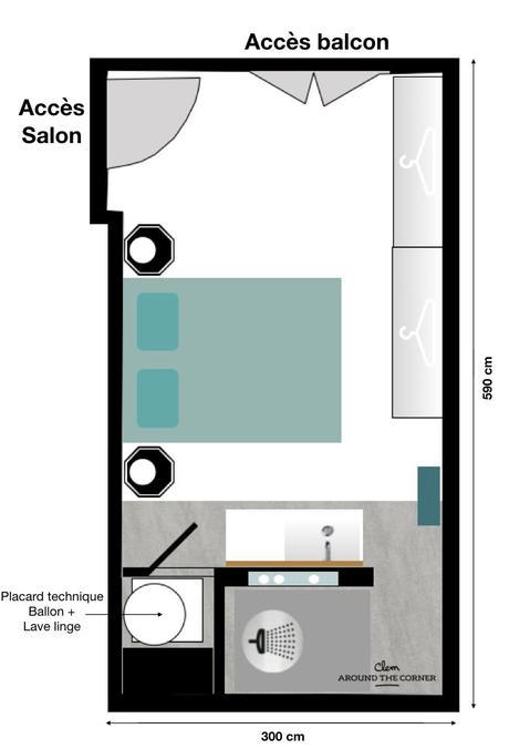 chambre plan suite parentale 20m2 salle de bain dressing carre blog deco clemaroundthecorner