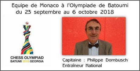 Philippe Dornbusch, capitaine de l'équipe olympique de Monaco - Photo © Chess & Strategy
