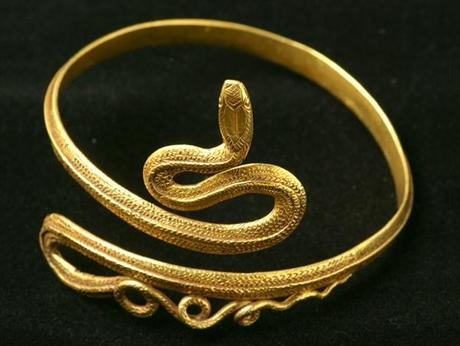 bracelet antique serpent en or