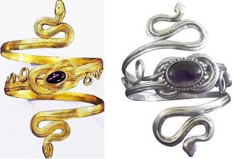 bracelet de bras serpent argent