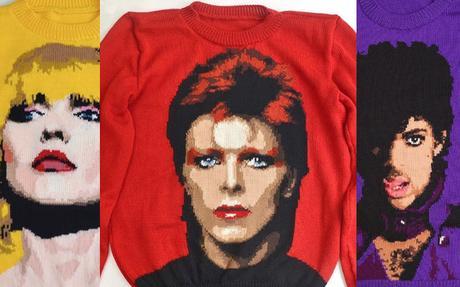 Il tricote des pulls à l'effigie des stars de la musique