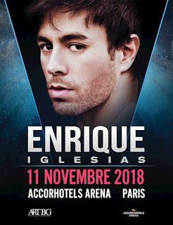 Place de concert à gagner pour voir Enrique Iglesias le 11 novembre 2018 à l'Accord Hotels Arena à Paris !