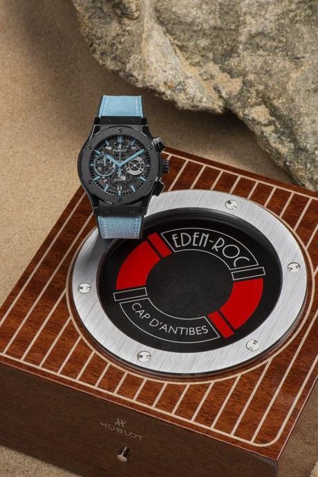 Hublot saisit la magie d'un lieu hors du temps : l'hôtel du Cap Eden Roc et présente la Classic Fusion Aerofusion Chronograph Eden Roc