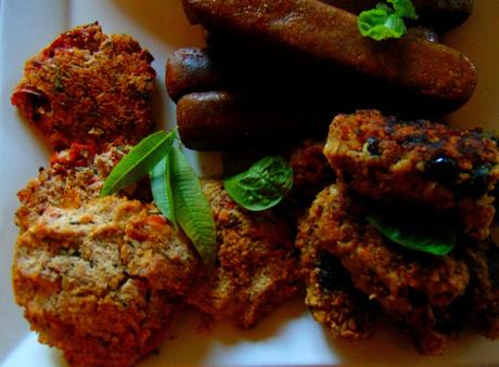 Fritters aux tomates, courgettes et tofu