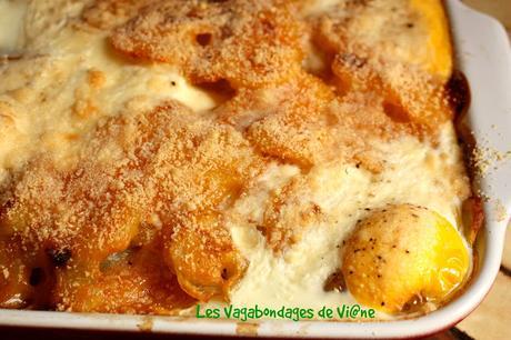 Gratin de pommes de terre aux oeufs et poivron