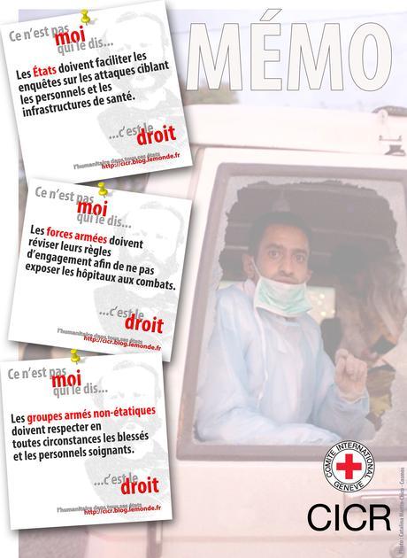 Respecter les personnels, ambulances et hôpitaux est une obligation universelle à rappeler sans cesse